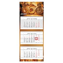 """Календарь квартальный 2020 год, """"Люкс"""", 3 блока на 3-х гребнях, """"Старинные часы"""", HATBER, 3Кв3гр2ц_19350"""