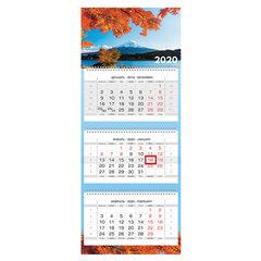 """Календарь квартальный 2020 г, """"Люкс"""", 3 блока на 3-х гребнях, """"Пейзажи"""", HATBER, 3Кв3гр2ц_19092"""