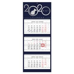 """Календарь квартальный 2020 год, """"Люкс"""", 3 блока на 3-х гребнях, 3D, """"Знак Года"""", HATBER, 3Кв3гр2ц_21095"""