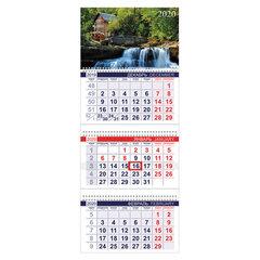 """Календарь квартальный 2020 г, """"Офис"""", 3 блока на 3-х гребнях, """"Водопад"""", HATBER, 3Кв3гр3_01786"""