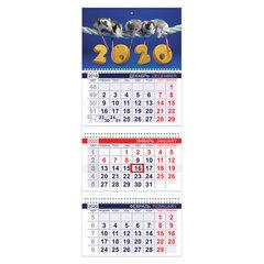"""Календарь квартальный 2020 год, """"Офис"""", 3 блока на 3-х гребнях, """"Знак Года"""", HATBER, 3Кв3гр3_20509"""