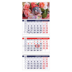 """Календарь квартальный 2020 год, """"Офис"""", 3 блока на 3-х гребнях, """"Знак Года"""", HATBER, 3Кв3гр3_20510"""