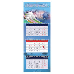 """Календарь квартальный 2020 г, """"УльтраЛюкс"""", 3 блока на 4-х гребнях, """"Seasons"""", HATBER, 3Кв4гр2ц_15103"""
