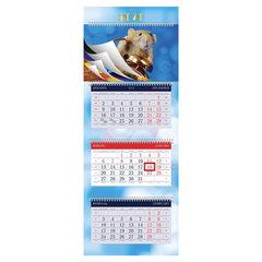 """Календарь квартальный 2020 год, """"УльтраЛюкс"""", 3 блока на 4-х гребнях, """"Знак Года"""", HATBER, 3Кв4гр2ц_04169"""