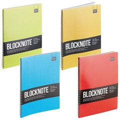 """Бизнес-Блокнот А4, 60 л., гребень, ламинированный картон, клетка, Альт, """"ACTIVE BOOK"""", (4 вида)"""