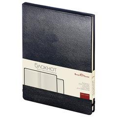Бизнес-Блокнот, А5, 100 л., твердая обложка, балакрон, открытие вверх, Bruno Visconti, Черный