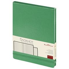 Бизнес-Блокнот, А5, 100 л., твердая обложка, балакрон, открытие вверх, Bruno Visconti, Зеленый
