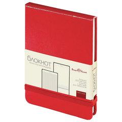 Бизнес-Блокнот, А6, 100 л., твердая обложка, балакрон, открытие вверх, BRUNO VISCONTI, Красный