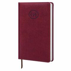 """Ежедневник датированный 2021 А5 (138x213 мм) BRAUBERG """"Favorite"""", кожзам, бордовый, 111366"""