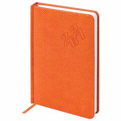 "Ежедневник датированный 2021 А5 (138х213 мм) BRAUBERG ""Rainbow Croc"", кожзам, оранжевый, 111388"