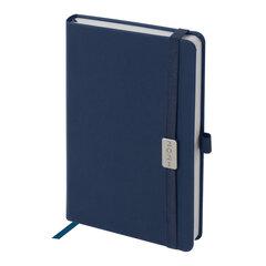 """Ежедневник датированный 2021 А5 (138х213 мм) BRAUBERG """"Control"""", кожзам, держатель для ручки, синий, 111472"""