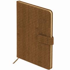 """Еженедельник датированный 2021 А5 (145х215 мм) BRAUBERG """"Instinct"""", кожзам, коричневый, 111544"""