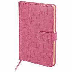 """Еженедельник датированный 2021 А5 (145х215 мм) BRAUBERG """"Party"""", кожзам, розовый, 111548"""