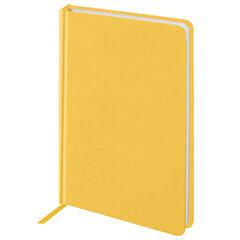 "Ежедневник недатированный А5 (138x213 мм) BRAUBERG ""Select"", балакрон, 160 л., желтый, 111662"