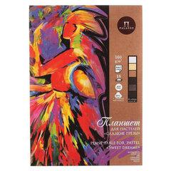 """Папка для пастели/планшет А4, 18 листов, 6 цветов, 160 г/м2, хлопок 40%, тиснение """"Холст"""", """"Сладкие грезы"""", ППГ/А4"""