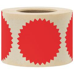 Этикетка самоклеящаяся для опечатывания документов ЗВЕЗДОЧКА красная, 52 мм, 500 шт, BRAUBERG 111742