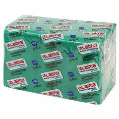 """Салфетки бумажные 400 шт., 24х24 см, LAIMA, """"Big Pack"""", зеленые (интенсив), 100% целлюлоза, 111796"""