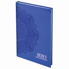 """Ежедневник датированный 2021 А5 (145х215 мм), ламинированная обложка, STAFF, """"Узор"""", 111816"""