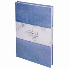 """Ежедневник датированный 2021 А5 (145х215 мм), ламинированная обложка, STAFF, """"Кожа"""", 111820"""