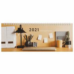 """Планинг датированный 2021 (285х112 мм), STAFF, картонная обложка на спирали, 60 л., """"Офис"""", 111831"""
