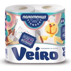 Полотенце бумажное VEIRO (Вейро), 2-х слойное, спайка 2 шт. х 16,3 м