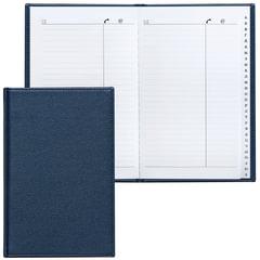 """Телефонная книжка А5 (136х202 мм), BRAUBERG """"Favorite"""", под классическую кожу, 96 л., вырубной алфавит, темно-синяя, 123503"""