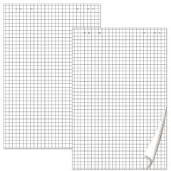 Блокноты для флипчарта BRAUBERG, КОМПЛЕКТ 5 штук, 20 листов, клетка, 67,5х98 см, 80 г/м2