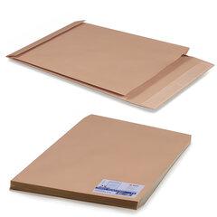 Конверт-пакет Е4+ объемный, комплект 25 шт.,300х400х40 мм, отрывная полоса, крафт-бумага, коричневый, на 300 листов