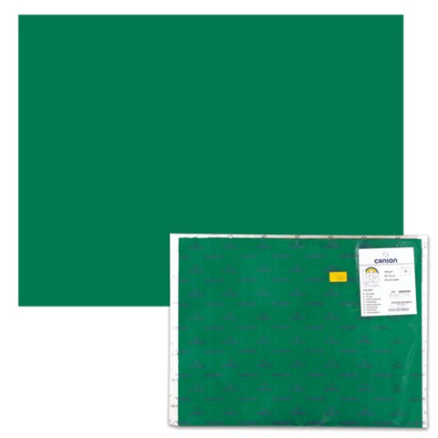 "Бумага (картон) CANSON ""Iris Vivaldi"", А2+, 500х650 мм, 240 г/м2, 2-сторонняя, темно-зеленая"
