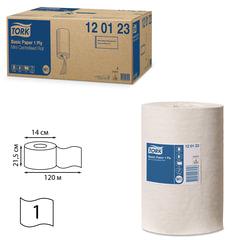 Полотенца бумажные с центральной вытяжкой мини TORK (Система M1), комплект 11 шт., Universal, 120 м, белые, 120123