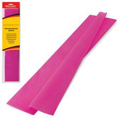 Цветная бумага крепированная BRAUBERG (БРАУБЕРГ), стандарт, растяжение до 65%, 25 г/м2, европодвес, темно-розовая, 50х200 см