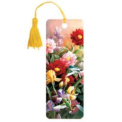 "Закладка для книг 3D, BRAUBERG, объемная, ""Цветы"", с декоративным шнурком-завязкой"