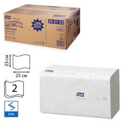 Полотенца бумажные, 250 шт., TORK (Система H3) Advanced, комплект 15 шт., 2-слойные, белые, 25х23, ZZ(V)