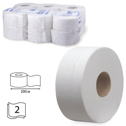 Бумага туалетная 200 м, KIMBERLY-CLARK Scott, комплект 12 шт., Performance Jumbo, 2-х слойная, белая, диспенсер 601544, АРТ. 8512