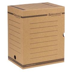 Короб архивный с клапаном А4 (260х325 мм), 200 мм, до 1800 листов, плотный, микрогофрокартон, BRAUBERG