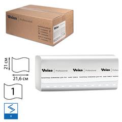 Полотенца бумажные 250 шт., VEIRO (Система H3/F1), комплект 15 шт., Comfort, белые, 21х21,6, V, KV210
