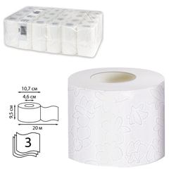 Бумага туалетная 20 м, VEIRO Professional, Premium, (Система T4), комплект 48 шт., 3-слойная, T309