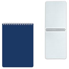"""Блокнот А5, 60 л., гребень, лакированная обложка, HATBER, """"Синий"""", 145х212 мм, 60Б5В1гр 12534"""