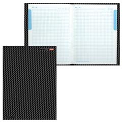 """Блокнот 7БЦ, А4, 80 л., выборочный лак, 5-цветный блок, HATBER, """"Carbon Style"""", 80ББ4влВ1 14359"""