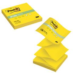 "Блок самоклеящийся (стикер) POST-IT Optima ""Лето"" (Z-блок), 76х76 мм, 100 л., желтый неон"