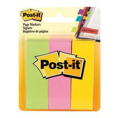 Закладки самоклеящиеся POST-IT Professional, бумажные, 22,2 мм, 3 цвета х 100 шт.