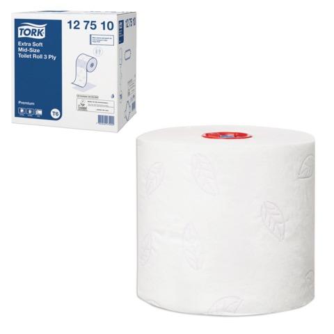 Бумага туалетная 70 м, TORK (Система Т6), комплект 27 шт., Premium, 3-слойная, белая, 127510