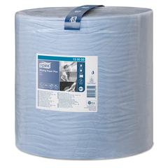 Бумага протирочная TORK (Система W1), 1500 листов в рулоне, 34х36,9 см, 2-слойная, голубая, 130050