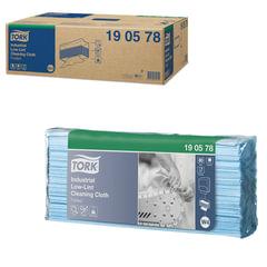 Протирочный нетканый материал 80 шт., TORK (Система W4) Premium, комплект 5 шт., синий, 40х35,5 см, 190578
