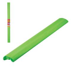 Цветная бумага крепированная флуоресцентная, растяжение до 25%, 22 г/м2, BRAUBERG, рулон, зеленая, 50х200 мм