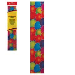 """Цветная бумага крепированная """"шарики"""", растяжение до 25%, 22 г/м2, BRAUBERG, европодвес, 50х200 см"""