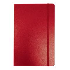 """Бизнес-блокнот BRAUBERG, А7+, 95х145 мм, """"Select"""", зернистый кожзаменитель, резинка, линия, 64 л., красный"""