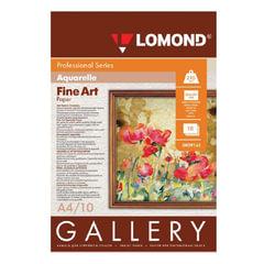Дизайн-бумага LOMOND, фактура акварели, A4, 210 г/м2, 10 листов, односторонняя, матовая