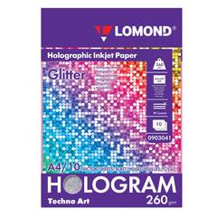 """Дизайн-бумага LOMOND с голографическими эффектами (""""блеск""""), А4, 260 г/м2, 10 листов, односторонняя"""