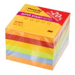 "Блоки самоклеящиеся (стикеры), 76х76 мм, комплект 6х90 л., POST-IT Super Sticky, ""Огонь"", ассорти"